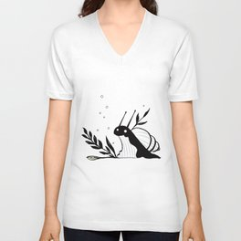 Little snail Unisex V-Neck