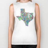 texas Biker Tanks featuring Texas by Laura Maxwell