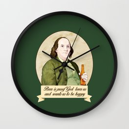 BEN AND BEER Wall Clock