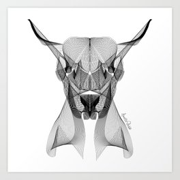 """""""Favorite Collection"""" - Abstract Lines Buffalo Print Art Print"""