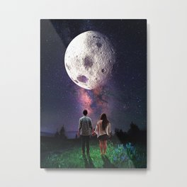 Under The Same Moon Metal Print