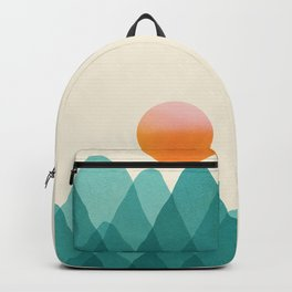 Abstraction_Mountains_SUNSET_Landscape_Minimalism_003 Backpack