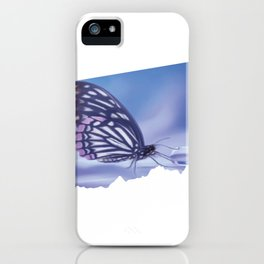 Monarch Lavender And Mariposa Dew | Butterfly Painting Scrapbook iPhone Case