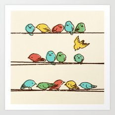 Hanging Out (multi-colored option) Art Print