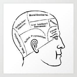Human mind Art Print