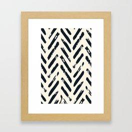 Retro Chevron Pattern 02 Framed Art Print
