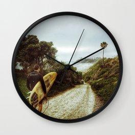 Surfer Boy, Cardiff, California Wall Clock