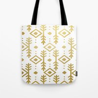 nordic Tote Bags featuring GOLD NORDIC by Nika
