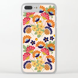 Fantasy summer flowers, vector illustration Clear iPhone Case