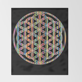 Flower of Life Colored | Kids Room | Delight Throw Blanket
