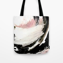 Crash: an abstract mixed media piece in black white and pink Tote Bag