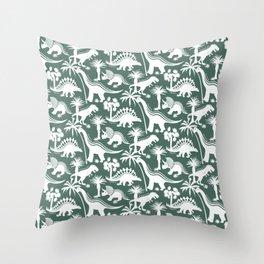 Pine Dinosaurs  Throw Pillow
