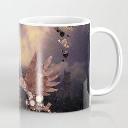Steampunk lady with steampunk dragon Coffee Mug