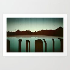 Chasing Boats Art Print