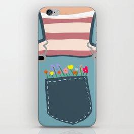 Pocket Full of FLOWERS iPhone Skin