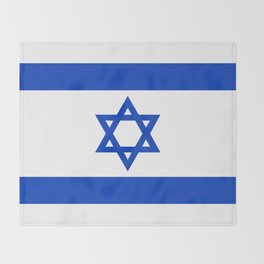 Flag of the State of Israel - High Quality Image Throw Blanket
