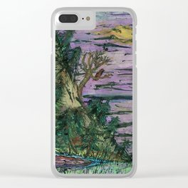 There's Something In The Water Clear iPhone Case