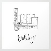 tyler oakley Art Prints featuring Oakley by kateohhtay