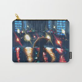 City Night Rain Carry-All Pouch