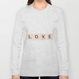 LOVE Scrabble Tiles Horizontal Long Sleeve T-shirt