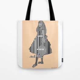 Whistler in Barcode, Harmony in Grey and Green, Peach-Orange Tote Bag
