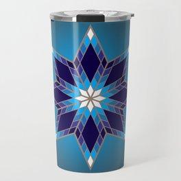 Morning Star Circle (Blue) Travel Mug