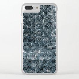 Ink Stitch: Aquamarine (dark) Clear iPhone Case