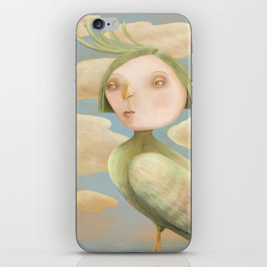 Green Crested Ladytoo iPhone & iPod Skin