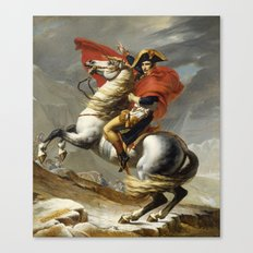 Napoleon Crossing the Alps by Jacques Louis David Canvas Print
