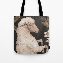 The Sheep and Blackberries Tote Bag