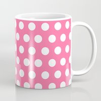 minnie mouse Mugs featuring Minnie Mouse Dots | Pink by DisPrints