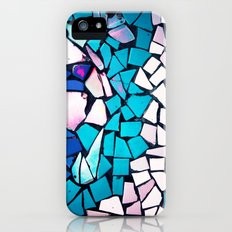 Turquoise and blue mosaic-(photograph) iPhone (5, 5s) Slim Case