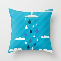 shower Throw Pillows featuring shower  by mark ashkenazi