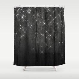 Fairy Lights On Wood 05 Shower Curtain