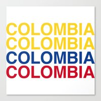 colombia Canvas Prints featuring COLOMBIA by eyesblau