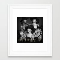 fifth harmony Framed Art Prints featuring Fifth Harmony - Reflection by xamjx3