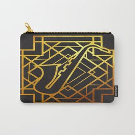 Art Deco Saxofon Carry-All Pouch