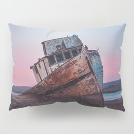 Point Reyes Shipwreck | Sunset Point Reyes Inverness California Landscape Travel Photography Pillow Sham