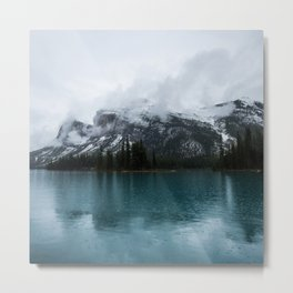 Smokey Mountains Landscape Photography Alberta Metal Print