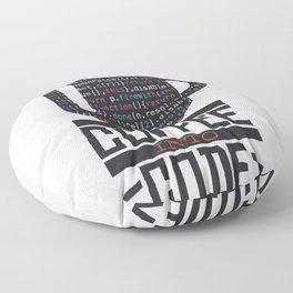 Coffee in turn code programming Floor Pillow
