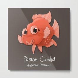 Parrot Cichlid Fish Metal Print