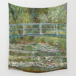 Monet, Water Lilies and Japanese Bridge, 1854 Wall Tapestry