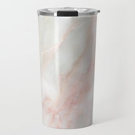 Softest blush pink marble Travel Mug
