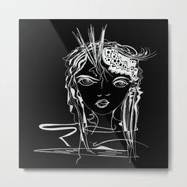 Zen Soul Awakening Abstract Face Art No.2 Metal Print