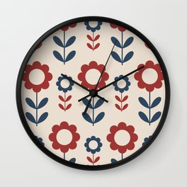 Kitschy Flowers (RB) Wall Clock