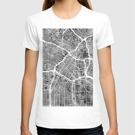 Los Angeles City Street Map T-shirt