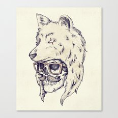 WOLF HAT Canvas Print