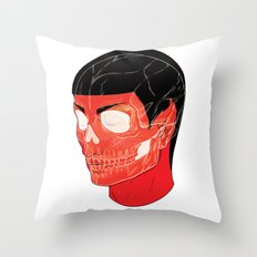 Red Vulcan Throw Pillow