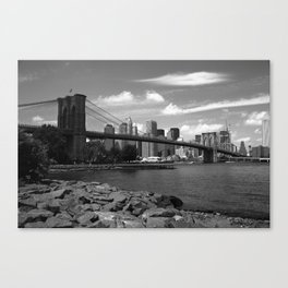 Brooklyn Bridge - New York City Skyline 2009 Canvas Print