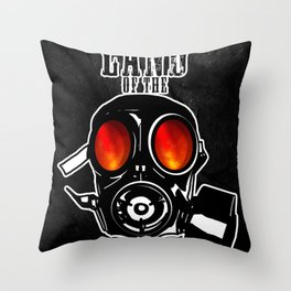 Land of the Gas Mask Throw Pillow